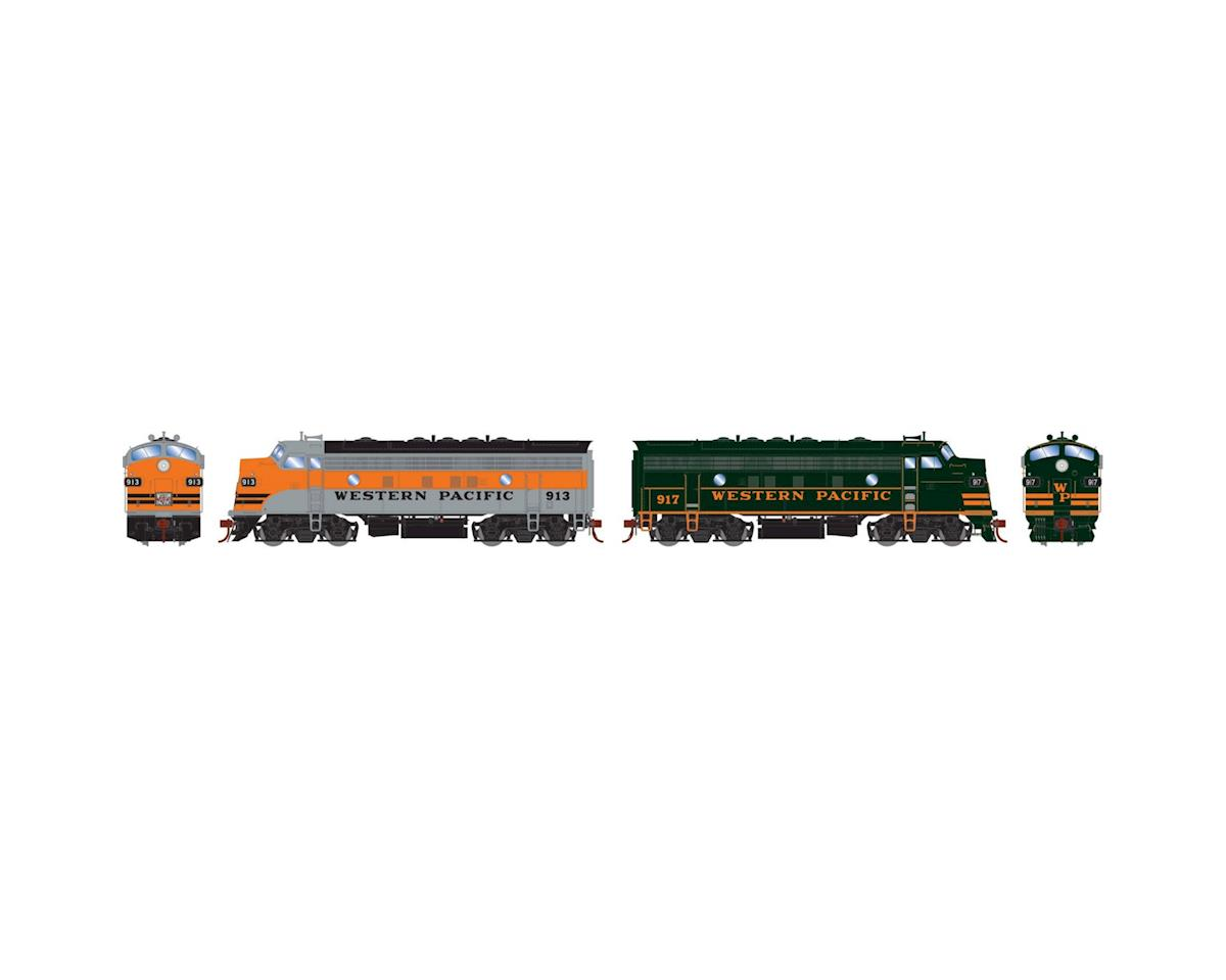 Athearn HO F7A/F7A w/DCC & Sound, WP Freight #913 #917