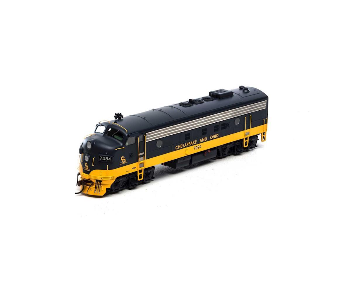 Athearn HO FP7A w/DCC & Sound, C&O/Passenger #7094
