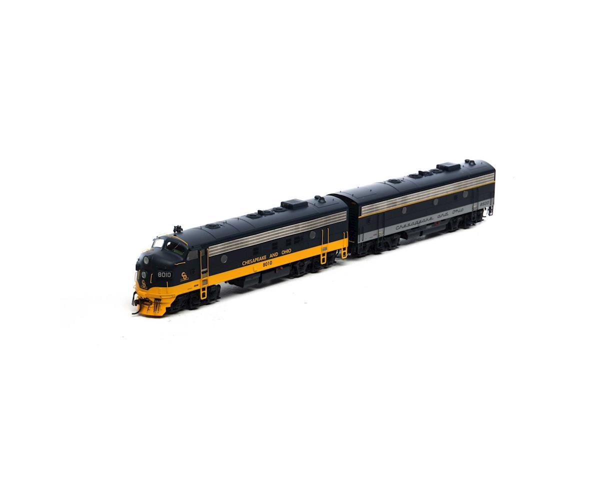 Athearn HO FP7A/F7B w/DCC & Sound,C&O/Passenger #8010/8500