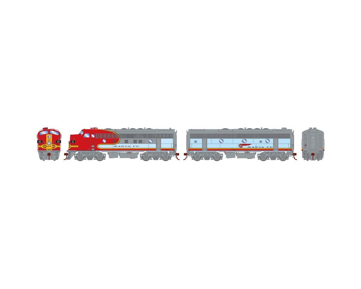 Athearn HO F7A/F7B w/DCC & Sound, SF/Passenger #312L/#307B