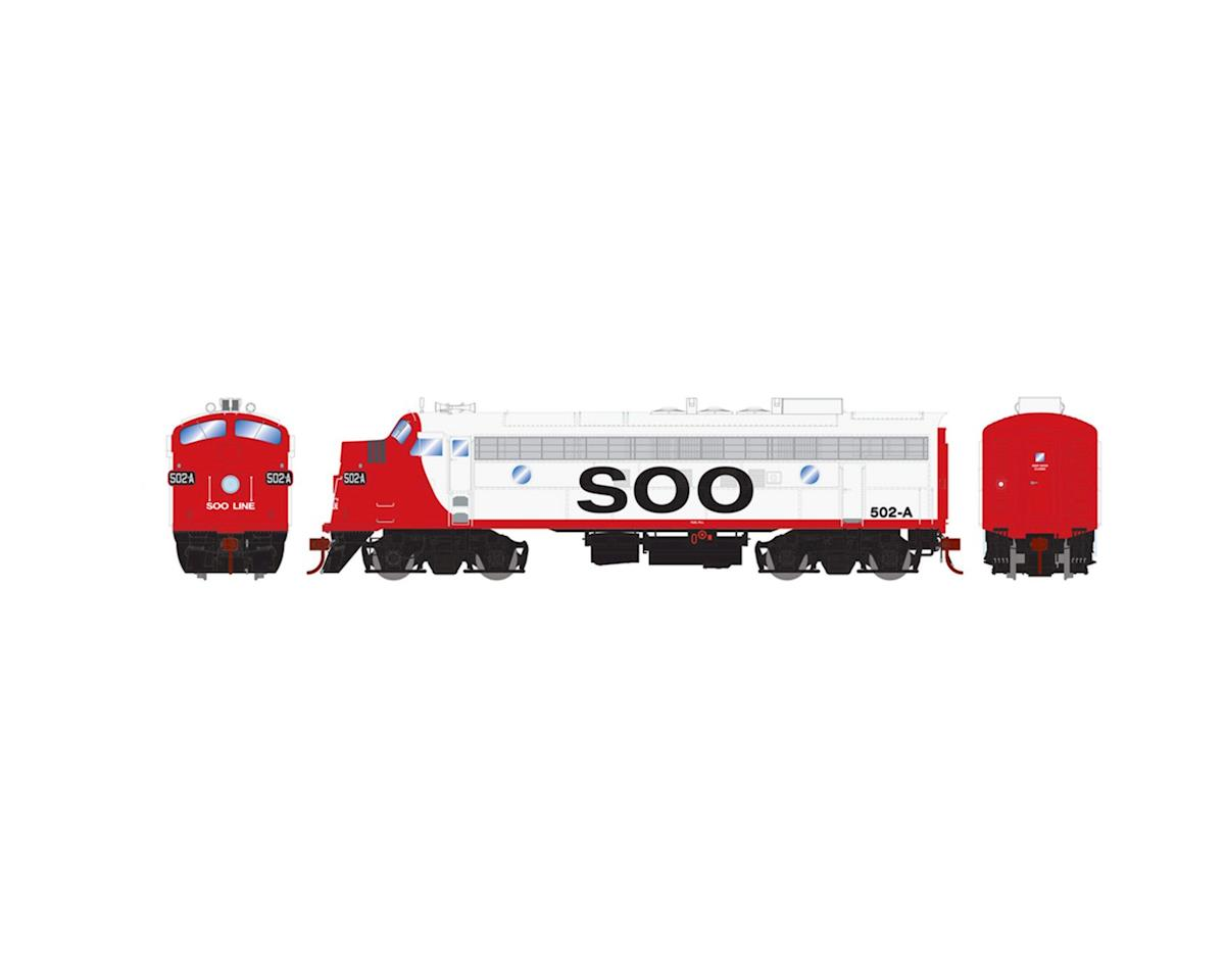 Athearn HO FP7A w/DCC & Sound, SOO/Freight #502a
