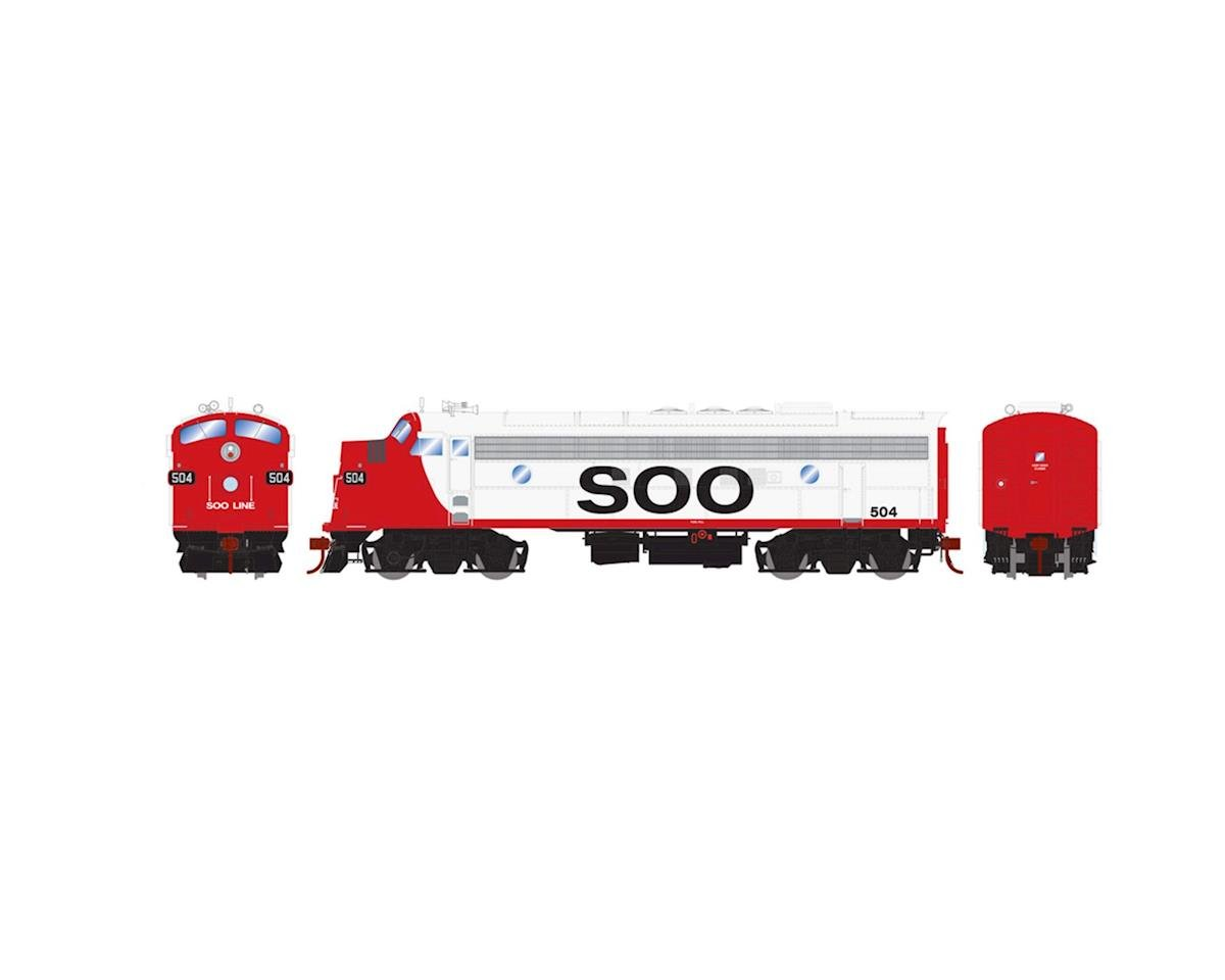 Athearn HO FP7A w/DCC & Sound, SOO/Freight #504