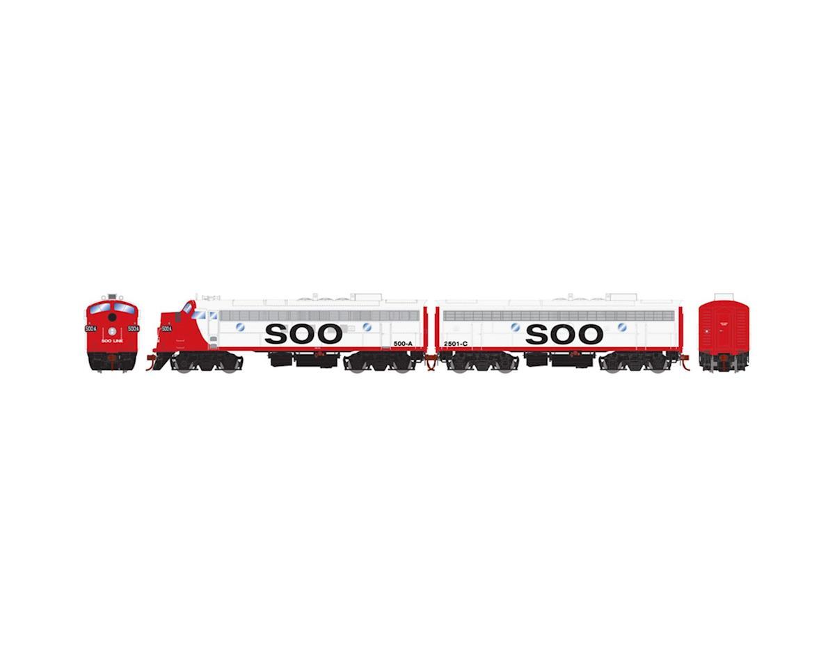 Athearn HO FP7A/F7B w/DCC & Sound,SOO/Freight #500a #2501c