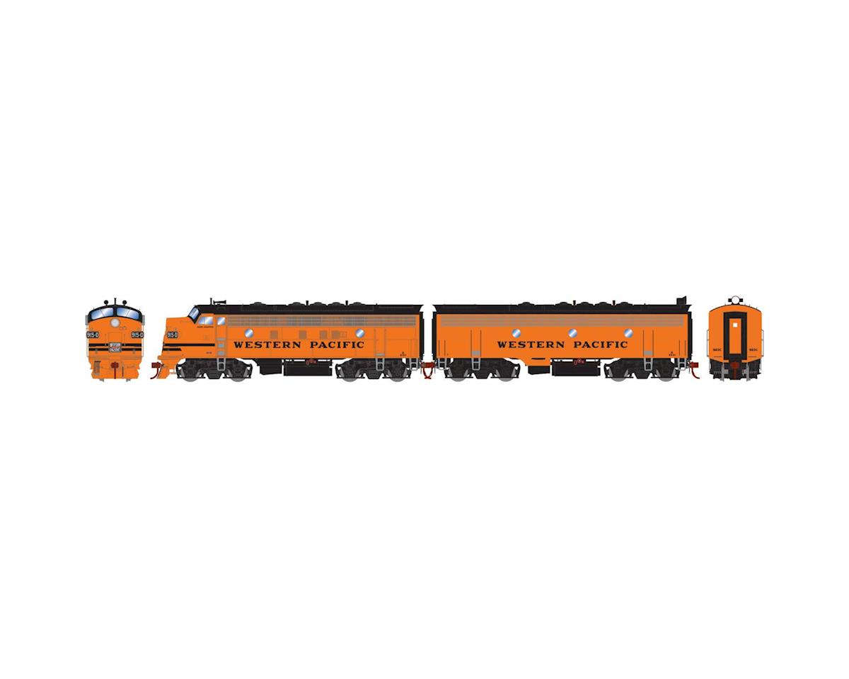 Athearn HO F7 A/B w/DCC & Sound, WP/Freight #915d #923c