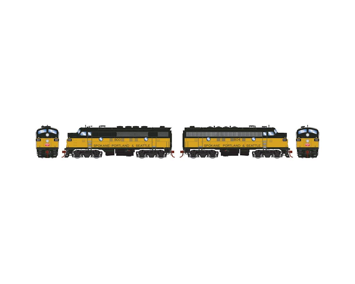 HO F3A/F7A w/DCC & Sound, SP&S/Passenger #800/#804 by Athearn
