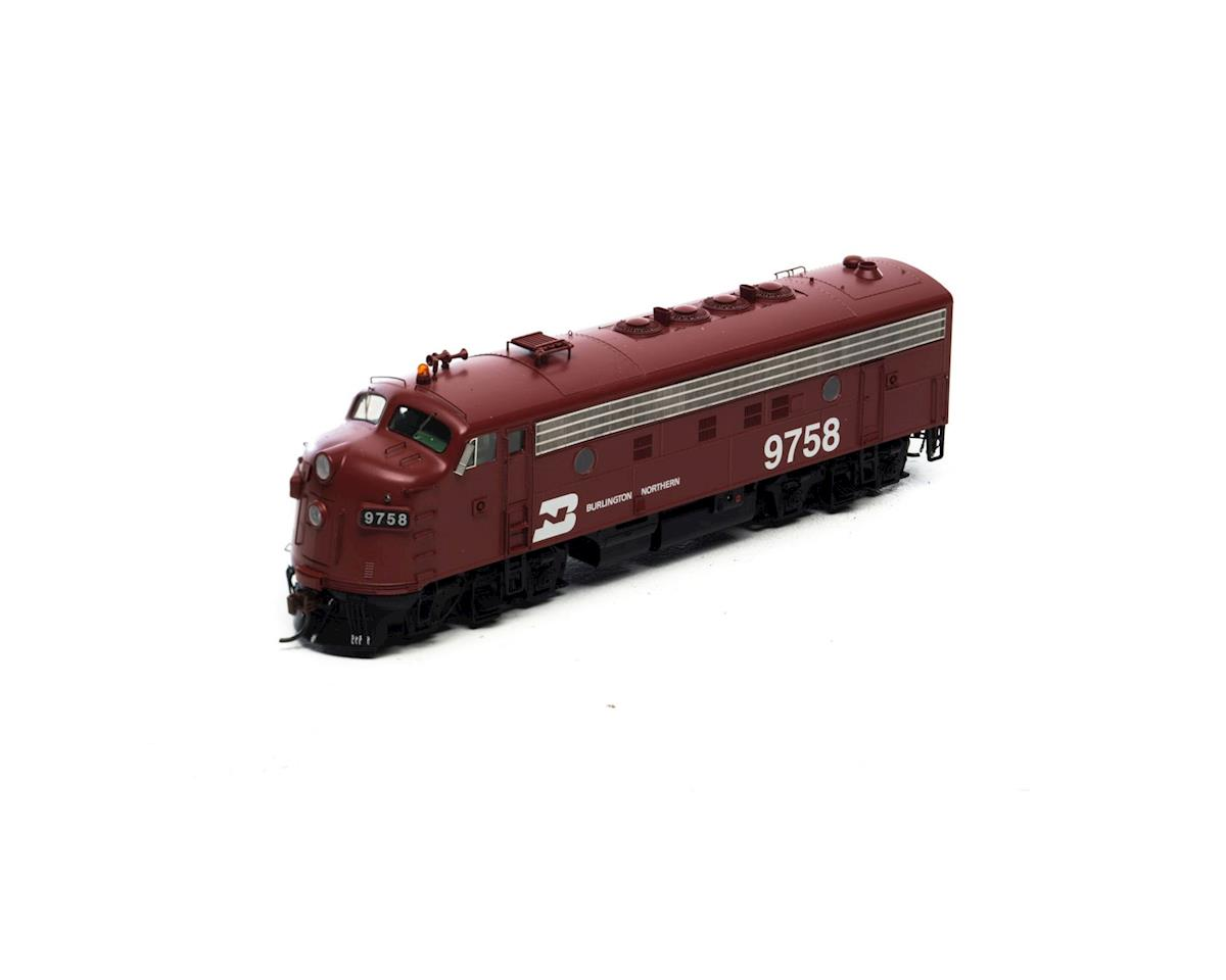 HO F7A w/DCC & Sound, BN/Freight/Brown #9758 by Athearn