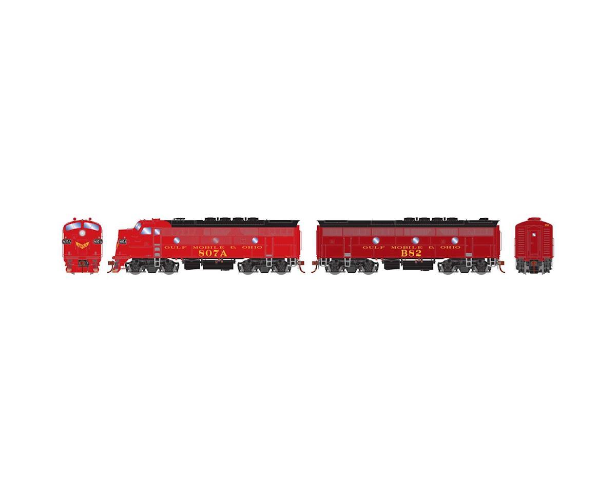 Athearn HO F3A/F3B w/DCC & Sound, GM&O/Freight/Passenger