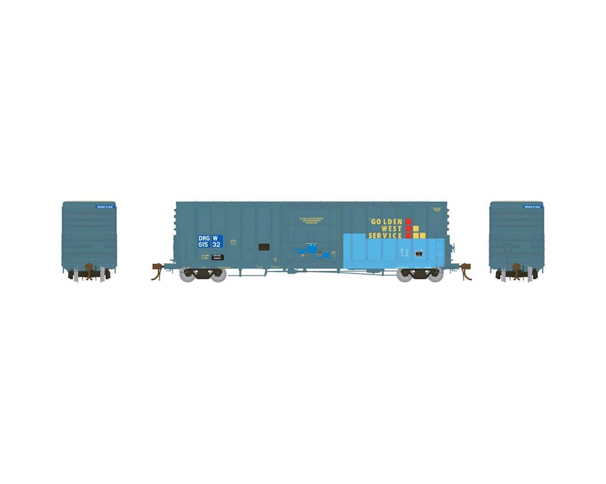 "Athearn HO 50' PC&F Box w/10'6"" Door, GWS/D&RGW #61532"