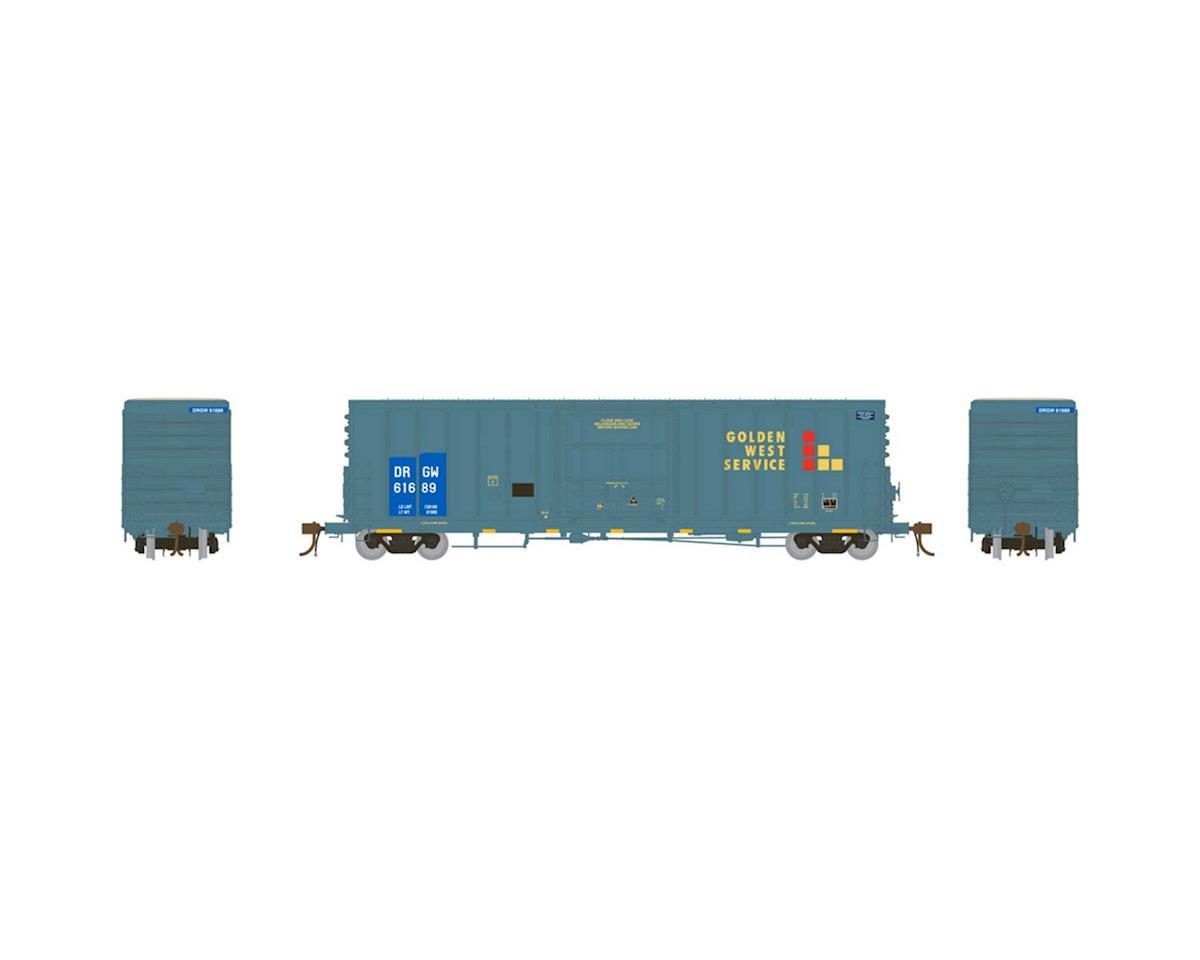 "Athearn HO 50' PC&F Box w/10'6"" Door, GWS/D&RGW #61689"