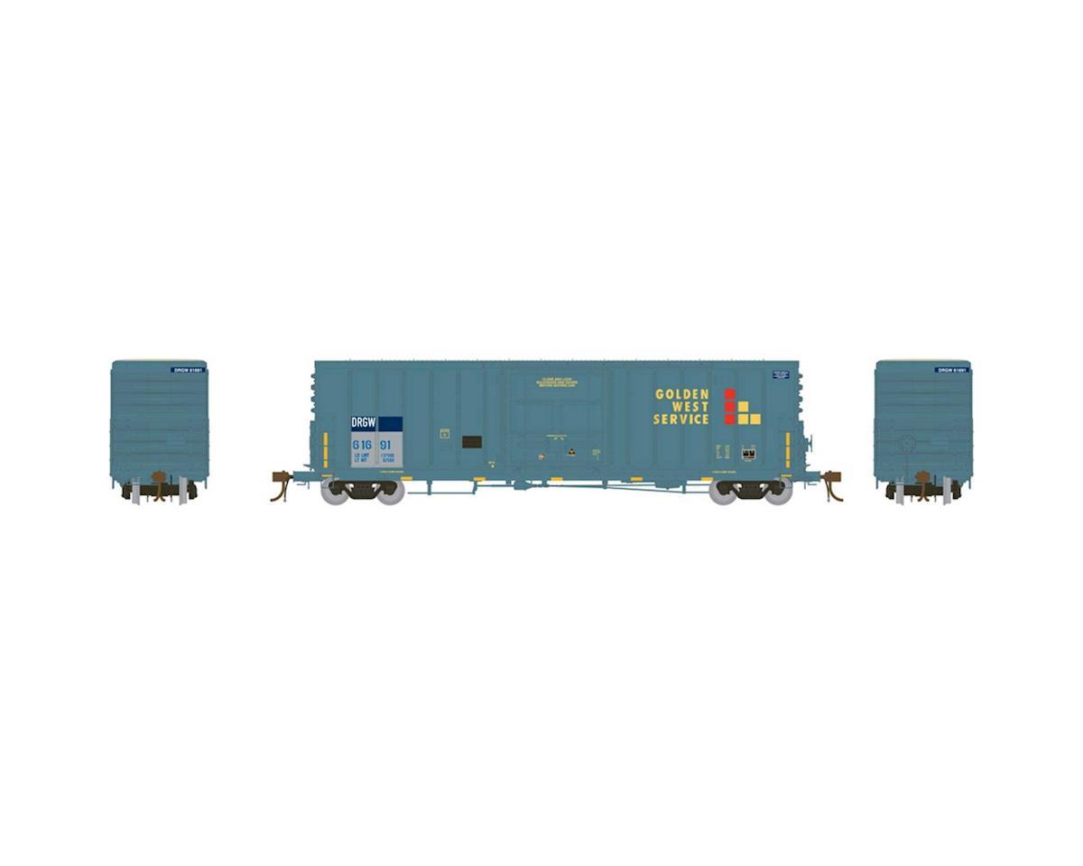 "Athearn HO 50' PC&F Box w/10'6"" Door, GWS/D&RGW #61691"