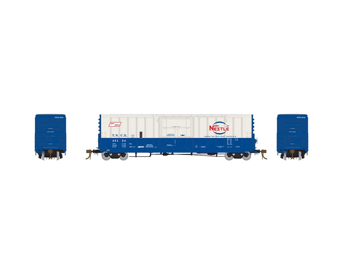 "Athearn HO 50' PC&F Box w/10'6"" Door, Nestle #43134"