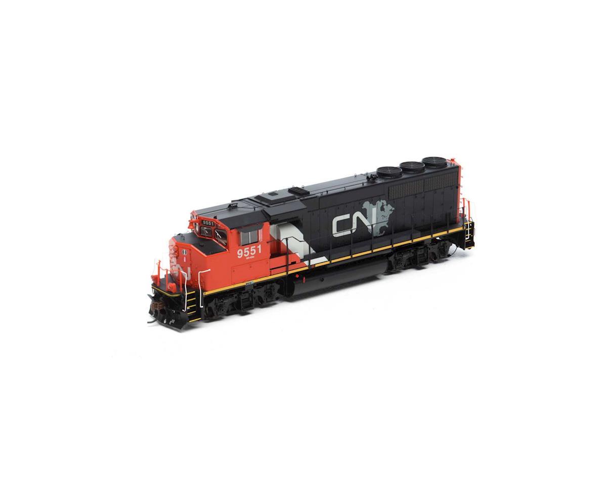 Athearn HO GP40-2L w/DCC & Sound, CN/North America #9551