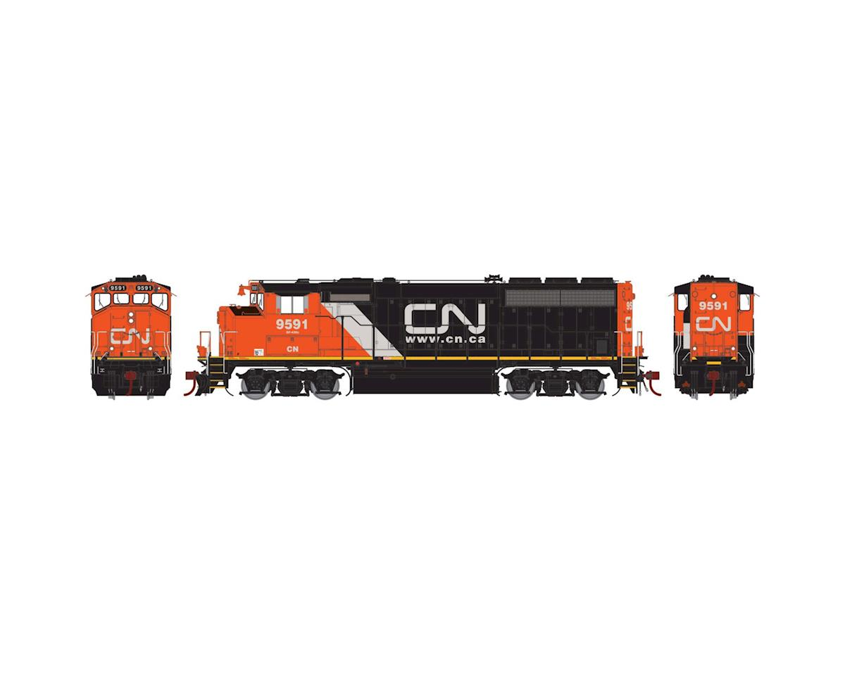 Athearn HO GP40-2L w/DCC & Sound, CN/Web Address #9591