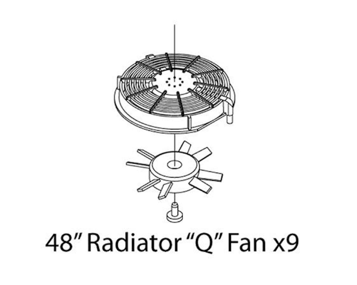 "Athearn HO Fans Set, SD70/""Q"" (3)"