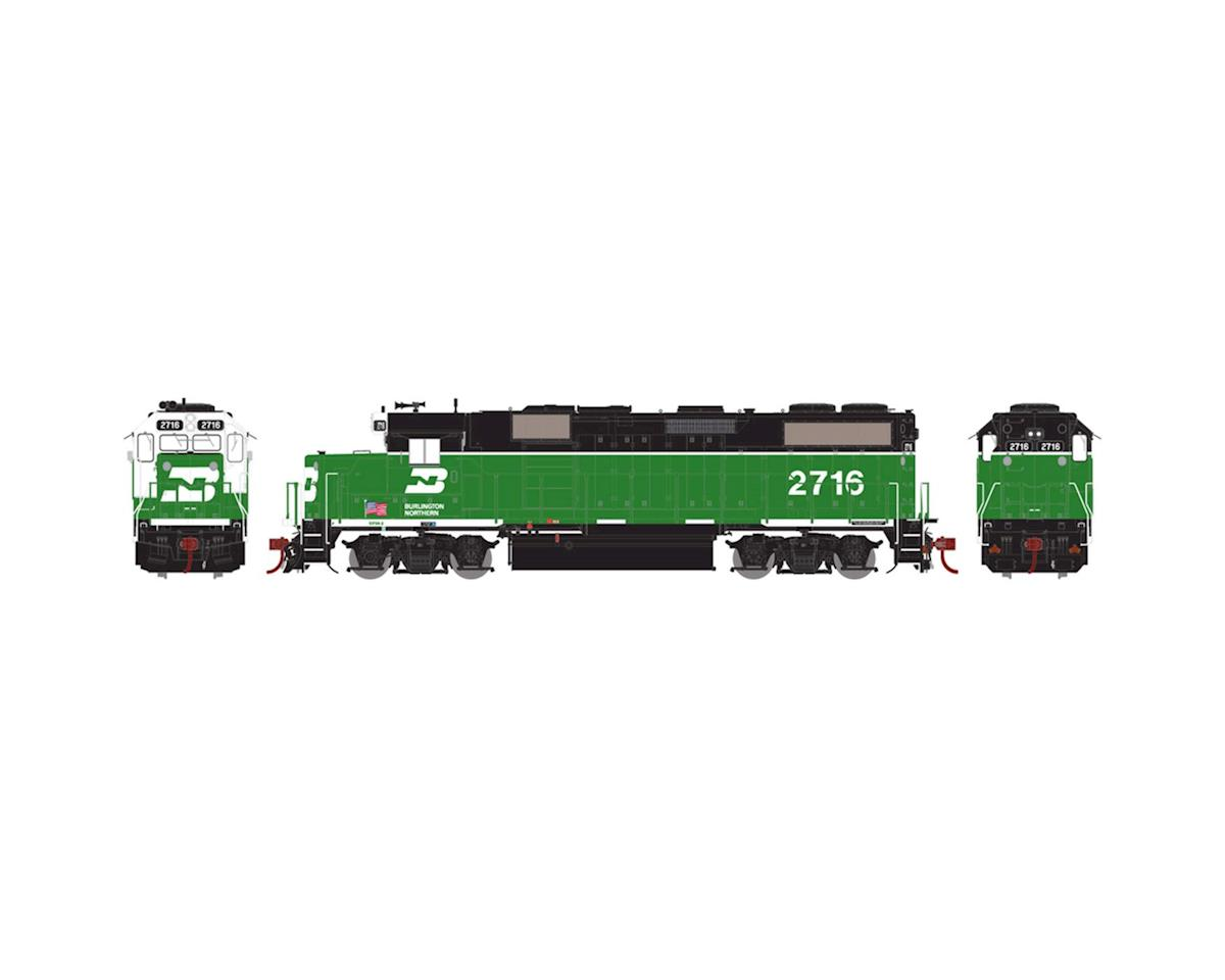 Athearn HO GP39-2 PHllb w/DCC & Sound, BN/White Face #2716