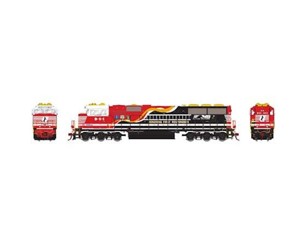 Athearn HO SD60E w/DCC & Sound, NS #9-1-1