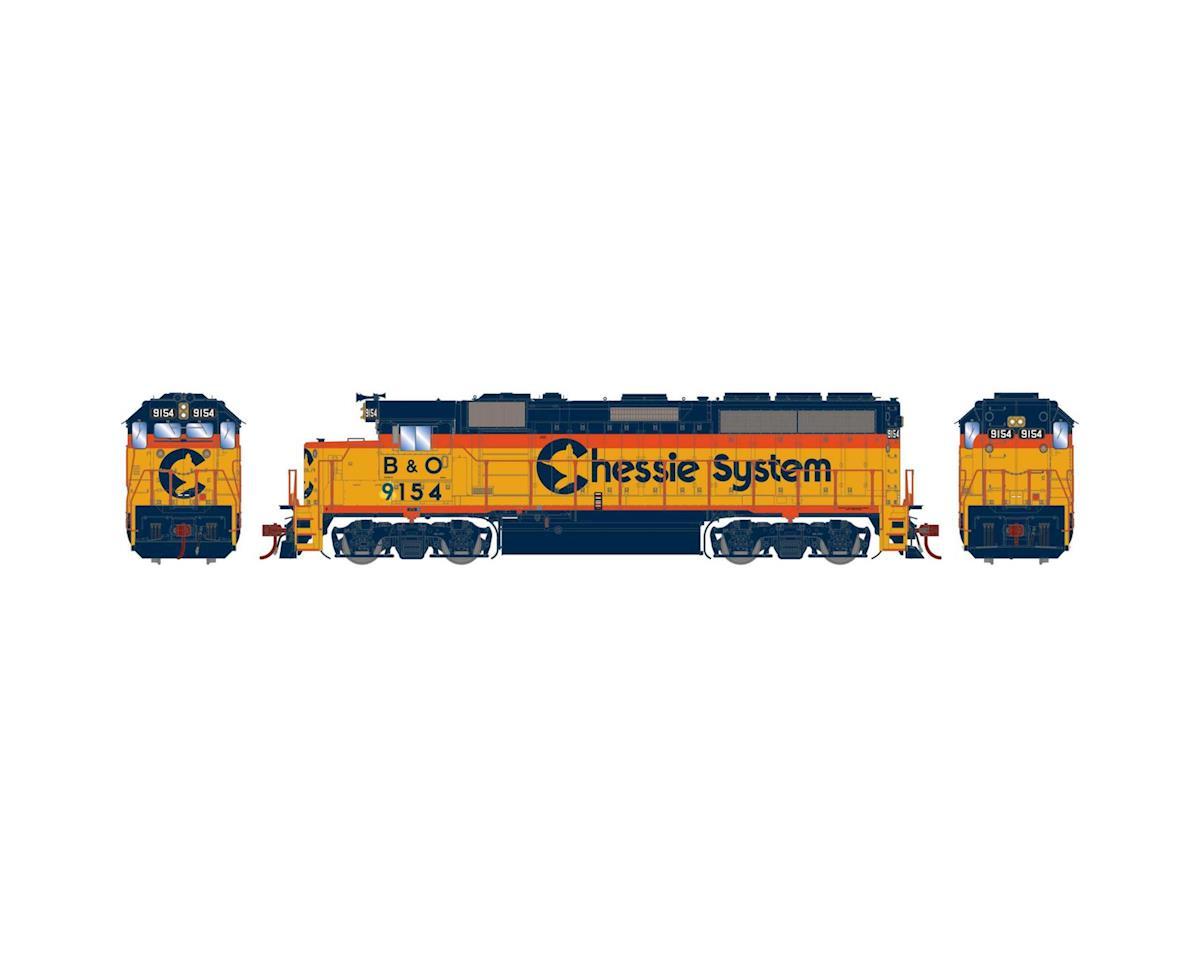 Athearn HO GP40-2, Chessie/B&O/Leased to ATSF #9154