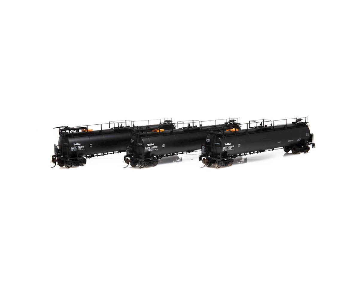 HO TankTrain Intermediate, GATX/B-S-T #1 (3)