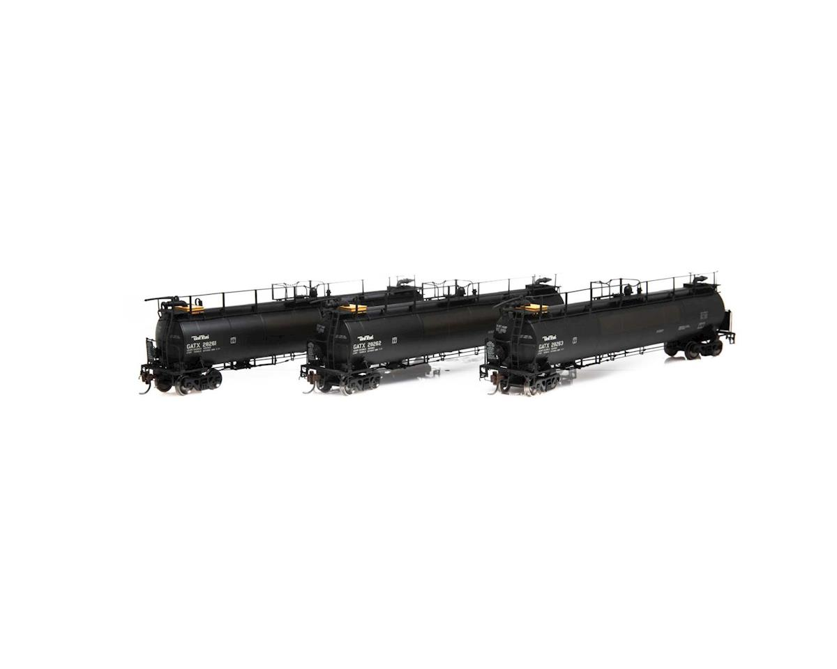 Athearn HO TankTrain Intermediate, GATX/P-TT-L #1 (3)