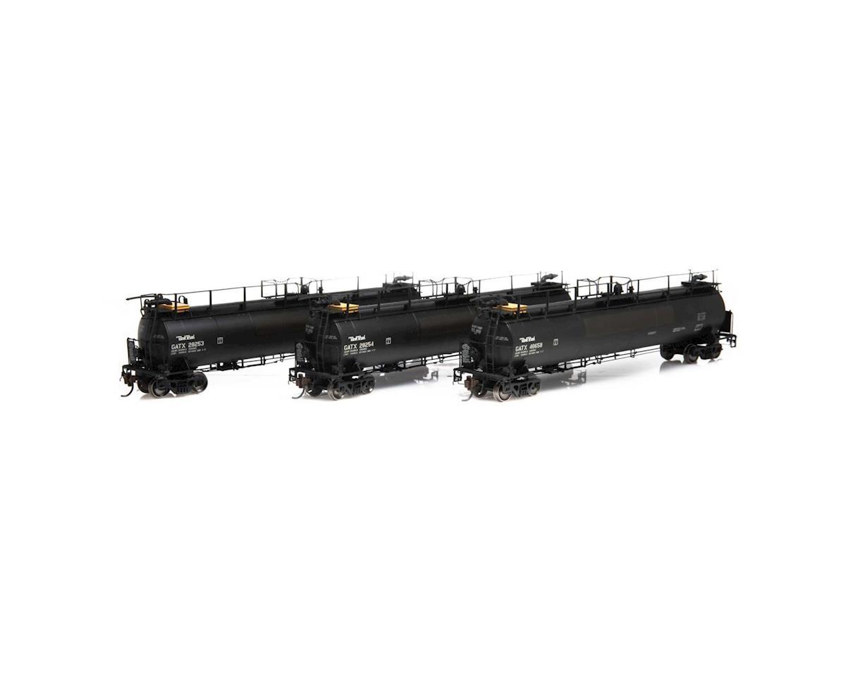 Athearn HO TankTrain Intermediate, GATX/P-TT-L #3 (3)