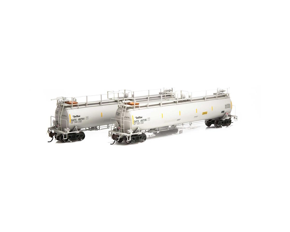 Athearn HO TankTrain A/B Set, GATX/White #48701 #48735