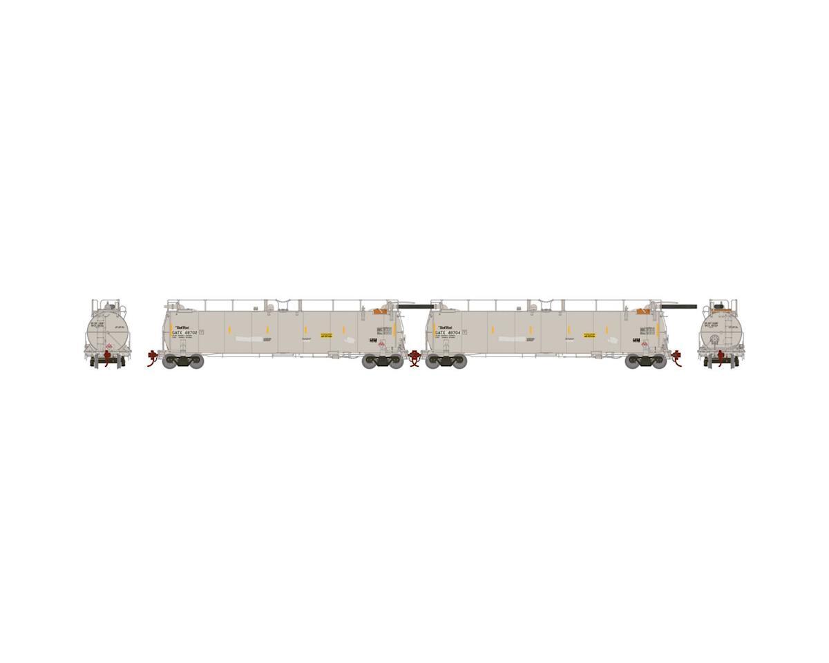 Athearn HO TankTrain Intermediate, GATX/White #1 (2)