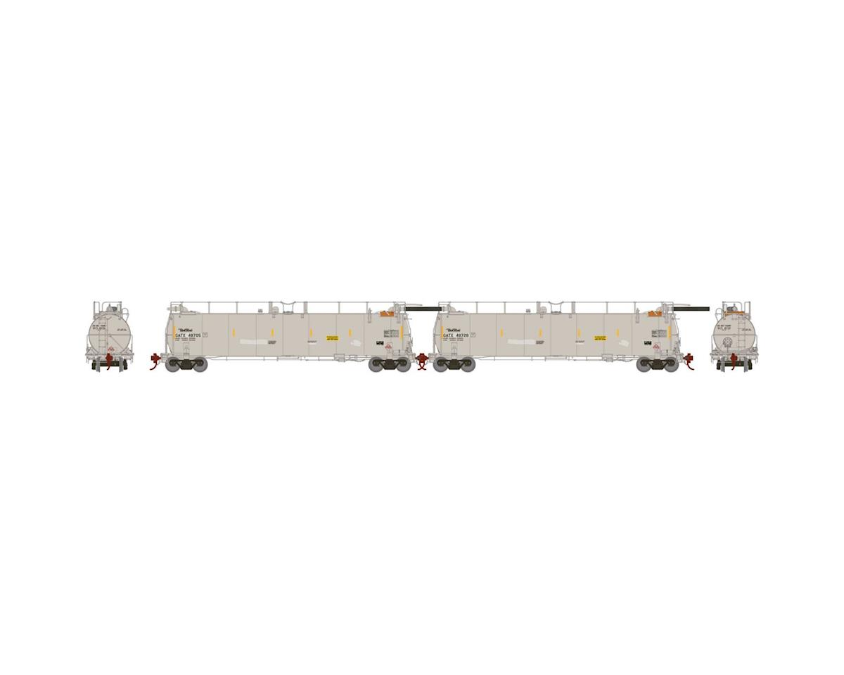 Athearn HO TankTrain Intermediate, GATX/White #2 (2)