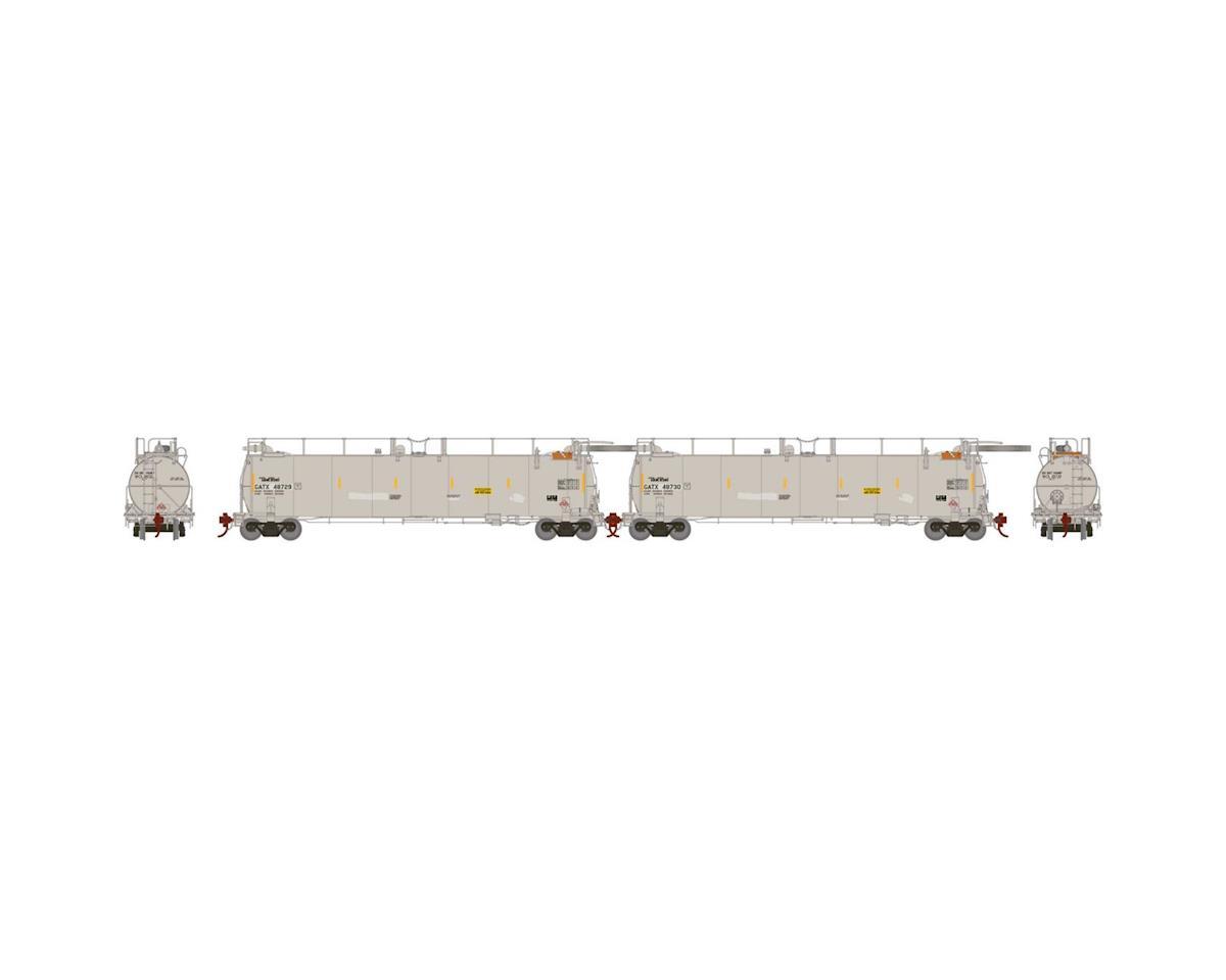 Athearn HO TankTrain Intermediate, GATX/White #3 (2)