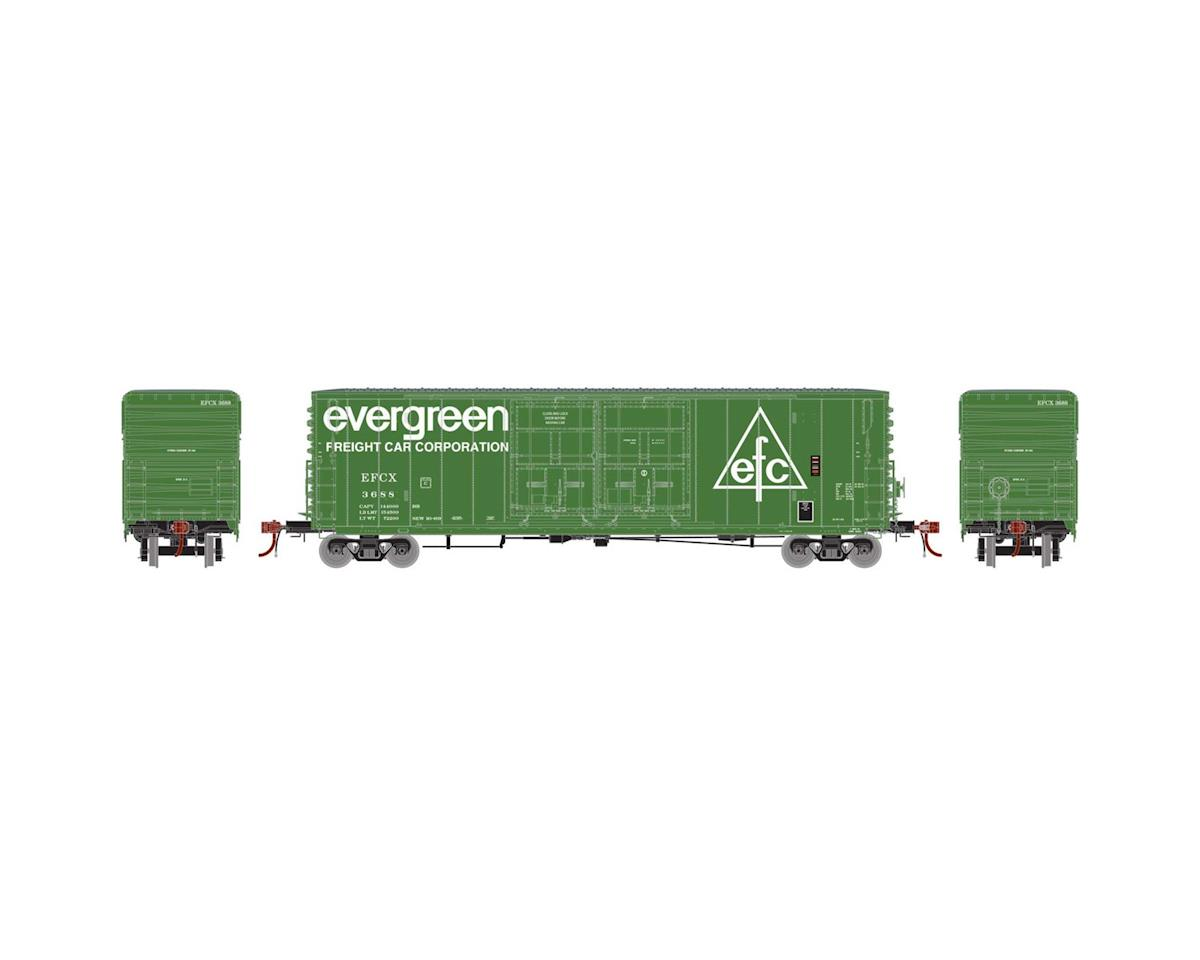 Athearn HO 50' PC&F Box/8' & 8' YSD Plug, Evergreen #3688