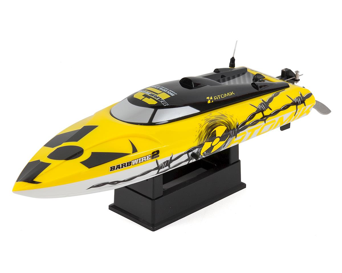 Barbwire 2 RTR Brushless Racing Boat w/2.4GHz Radio by Atomik RC