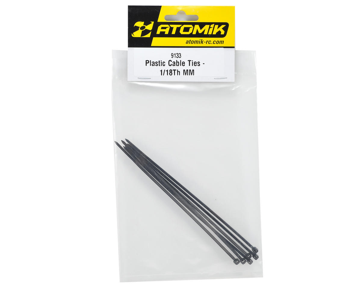Atomik RC Plastic Cable Tie (Black) (6)
