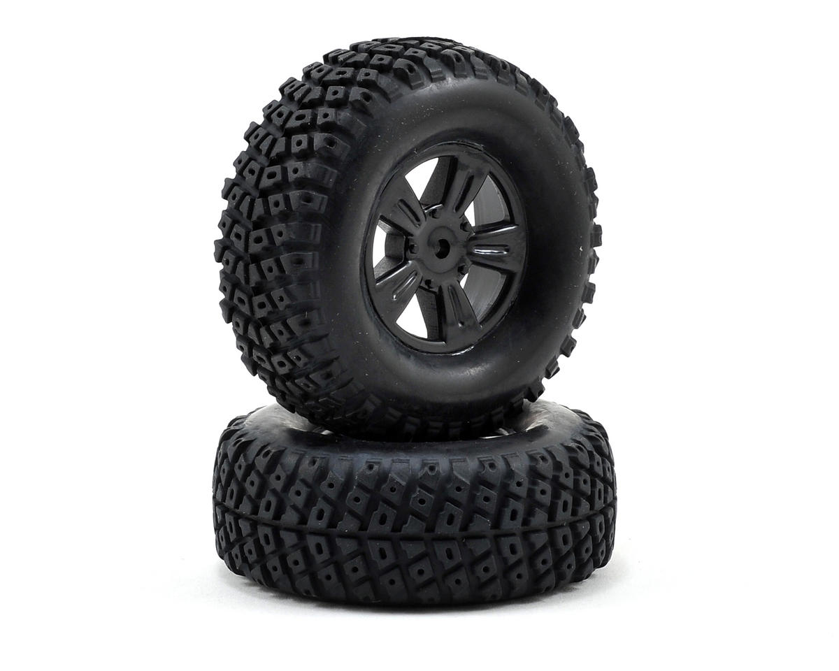 Atomik RC Pre-Mounted 1/18 Short Course Truck Tire (2)