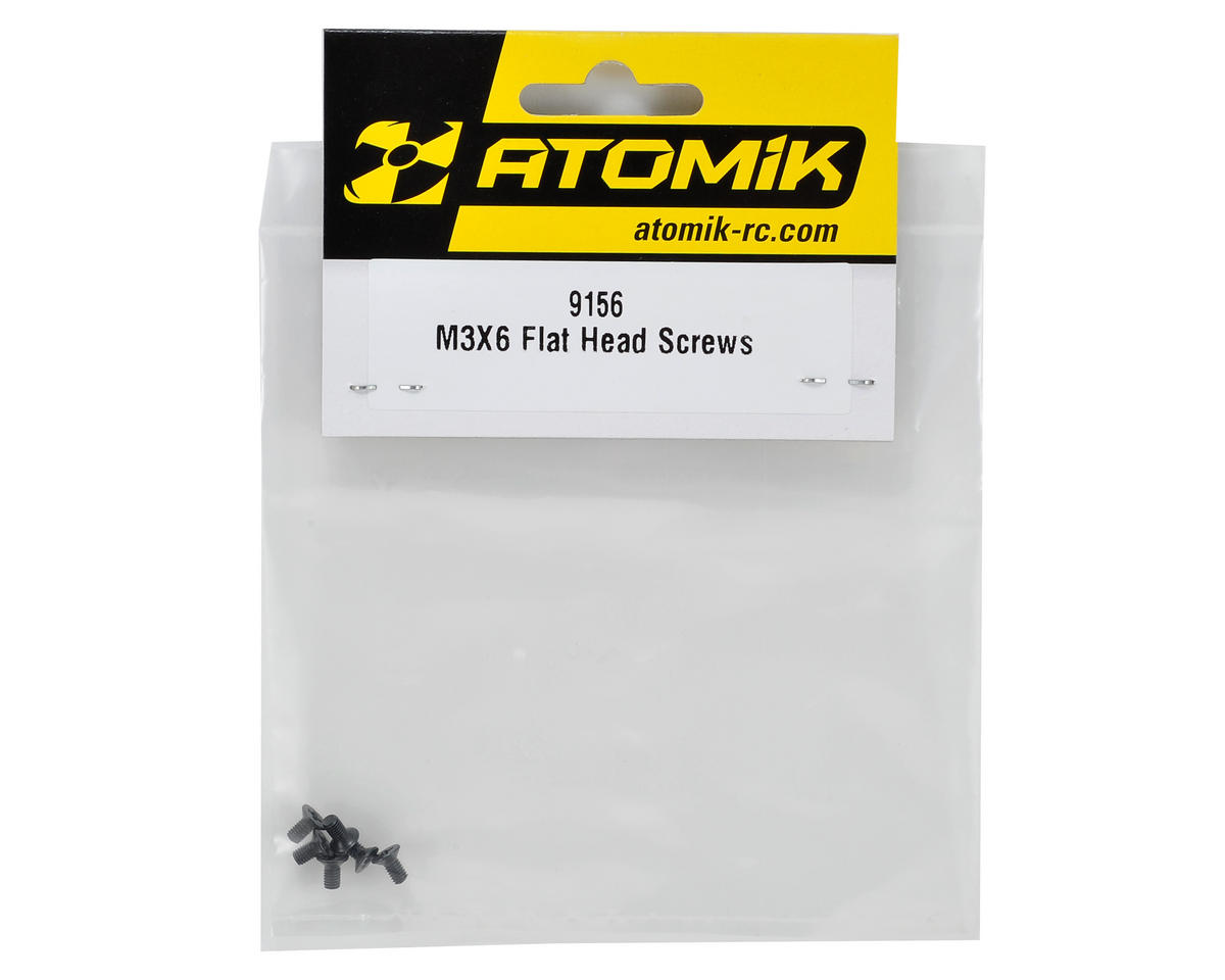 Atomik RC 3x6mm Flat Head Phillips Screw (6)