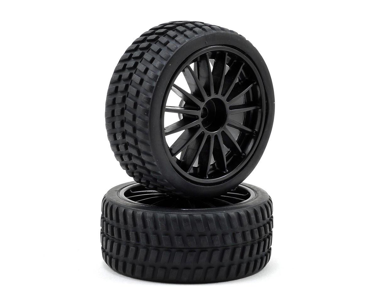 Atomik RC Pre-Mounted 1/18 Rally Car Tire Set (2)
