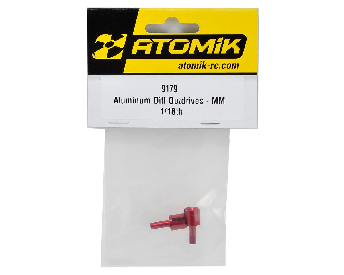 Atomik RC Aluminum Differential Outdrive Set (Red)