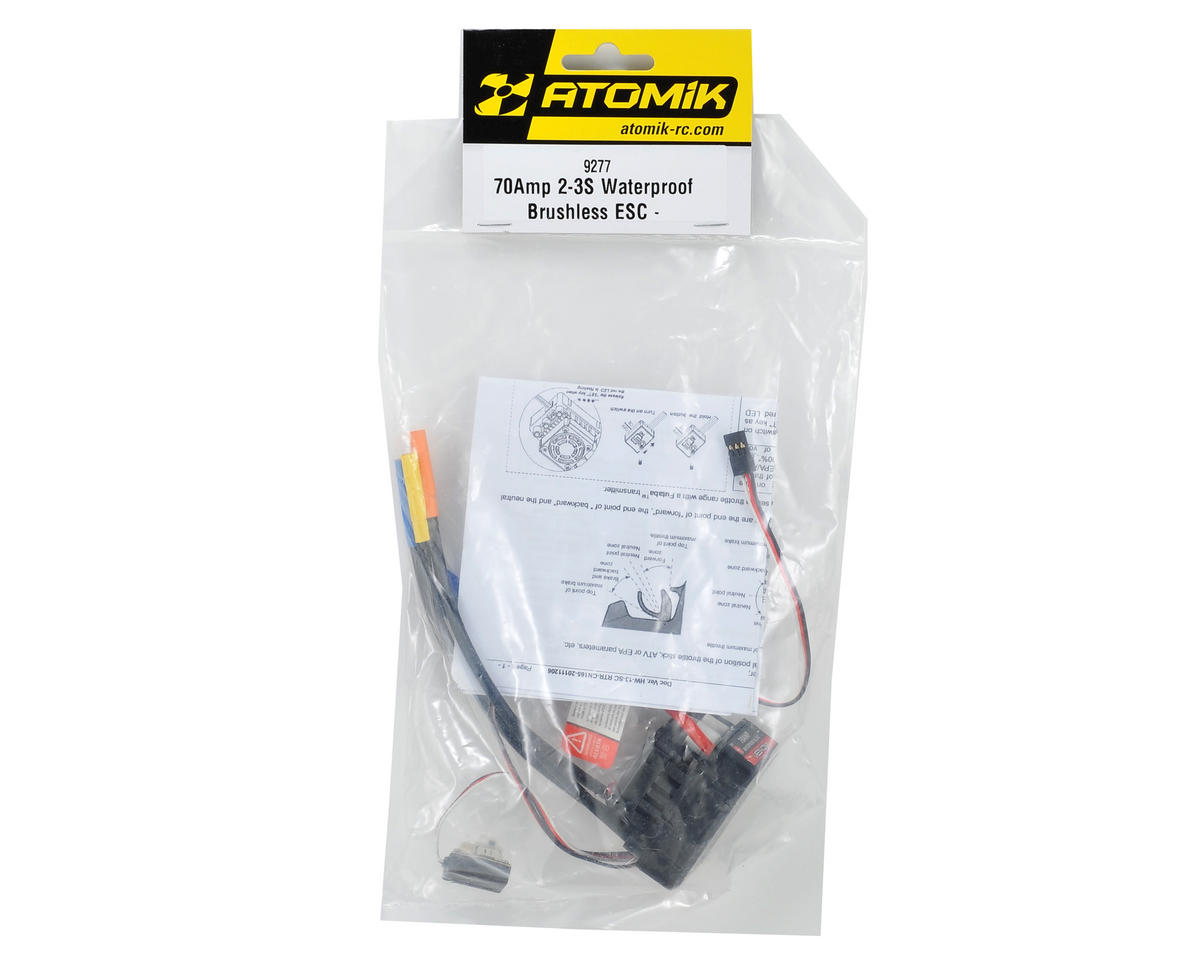 Atomik RC 70 Amp Waterproof Brushless ESC