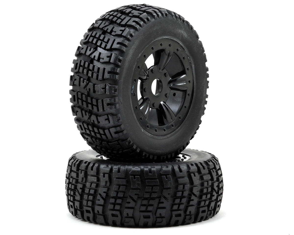 Atomik RC 1/8 Short Course Pre-Mounted Tire Set (2)