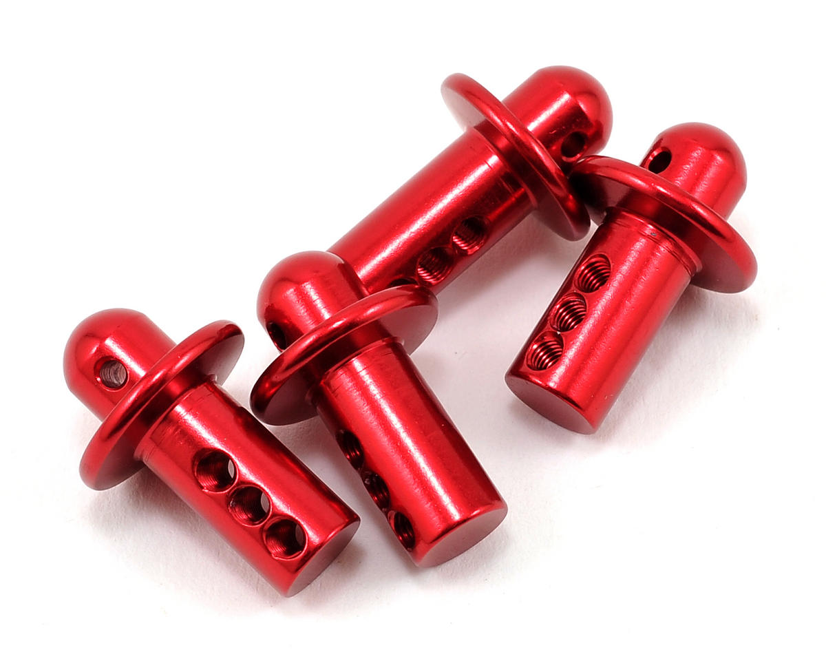 Atomik RC Aluminum Body Post Set (Red) (4)