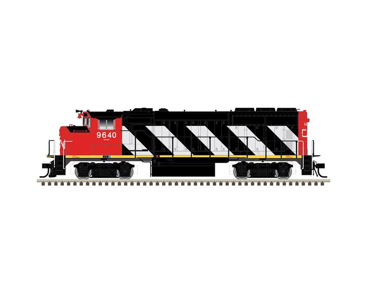 Atlas Railroad HO GP40-2W w/DCC & Sound, CN/Zebra Stripes #9670