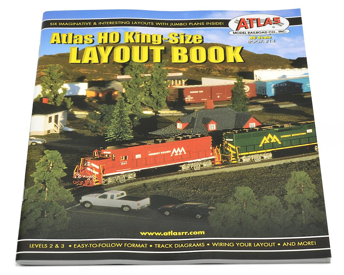 For Ho Train Layout Wiring Diagrams Atlas Railroad King Size Plan Book Atl14 Cars Trucks