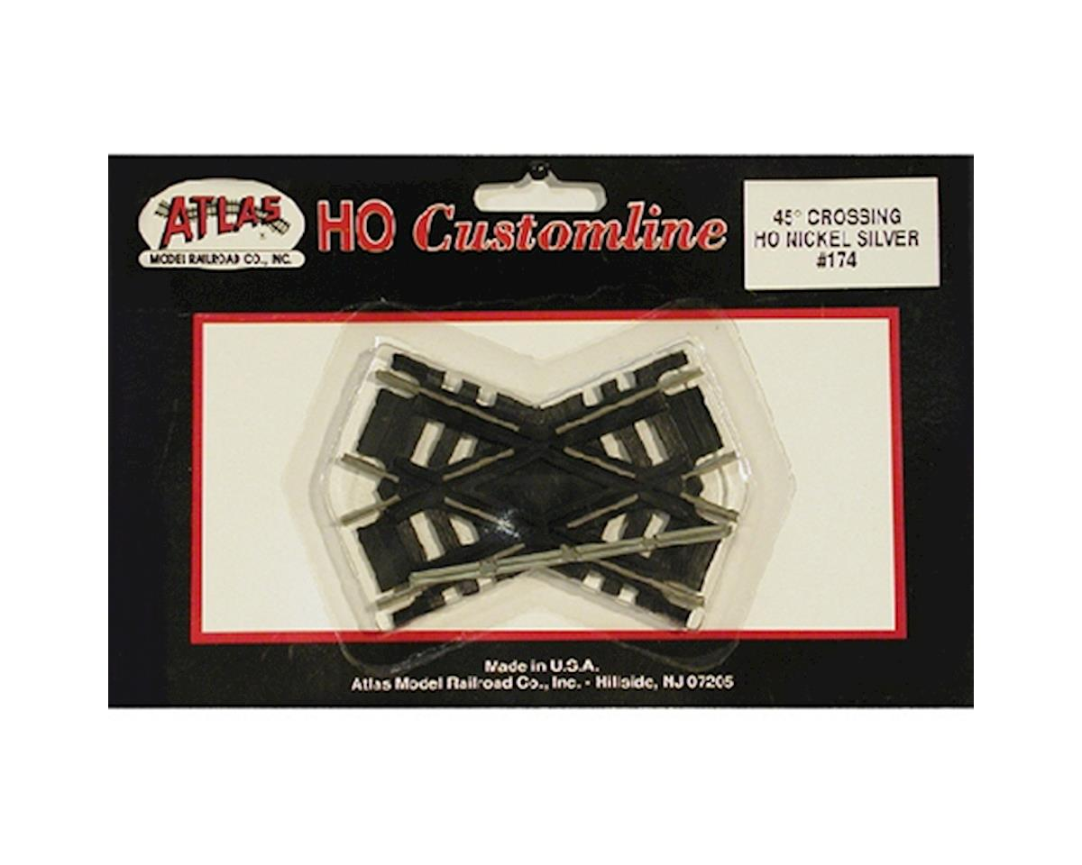 Atlas Railroad HO Code 100 45-Degree Custom Crossing