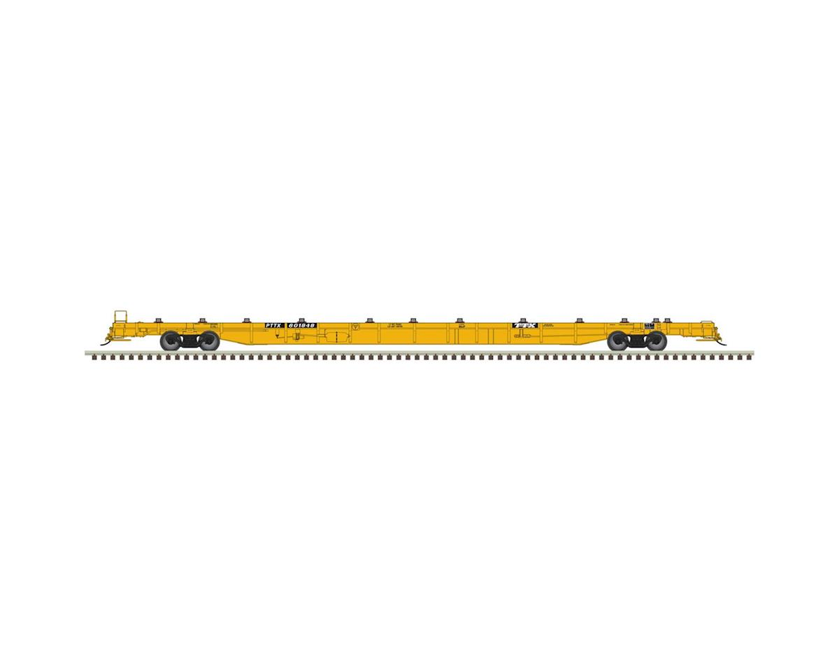 Atlas Railroad HO 89' F89-J Flat, TTX/2000's/Yellow #601848