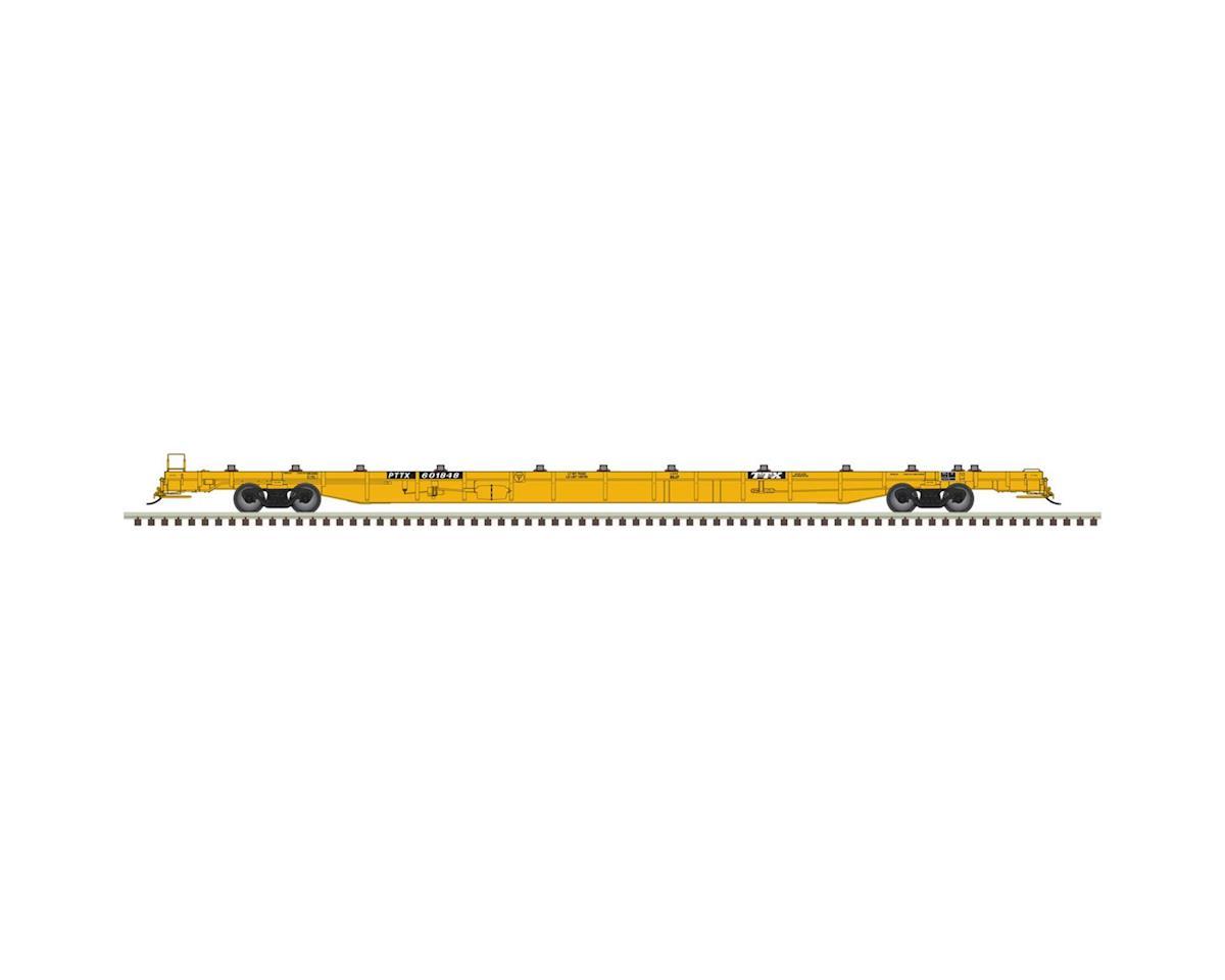Atlas Railroad HO 89' F89-J Flat, 2000's/Yellow #601848