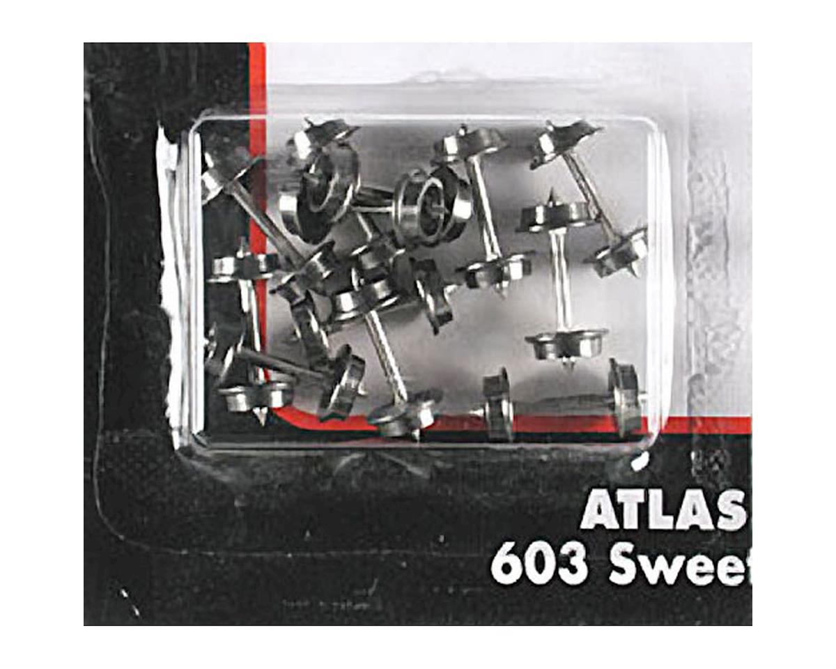 Atlas Railroad N 33'' Blackened Metal Wheels (12Axles/Set) (12Set