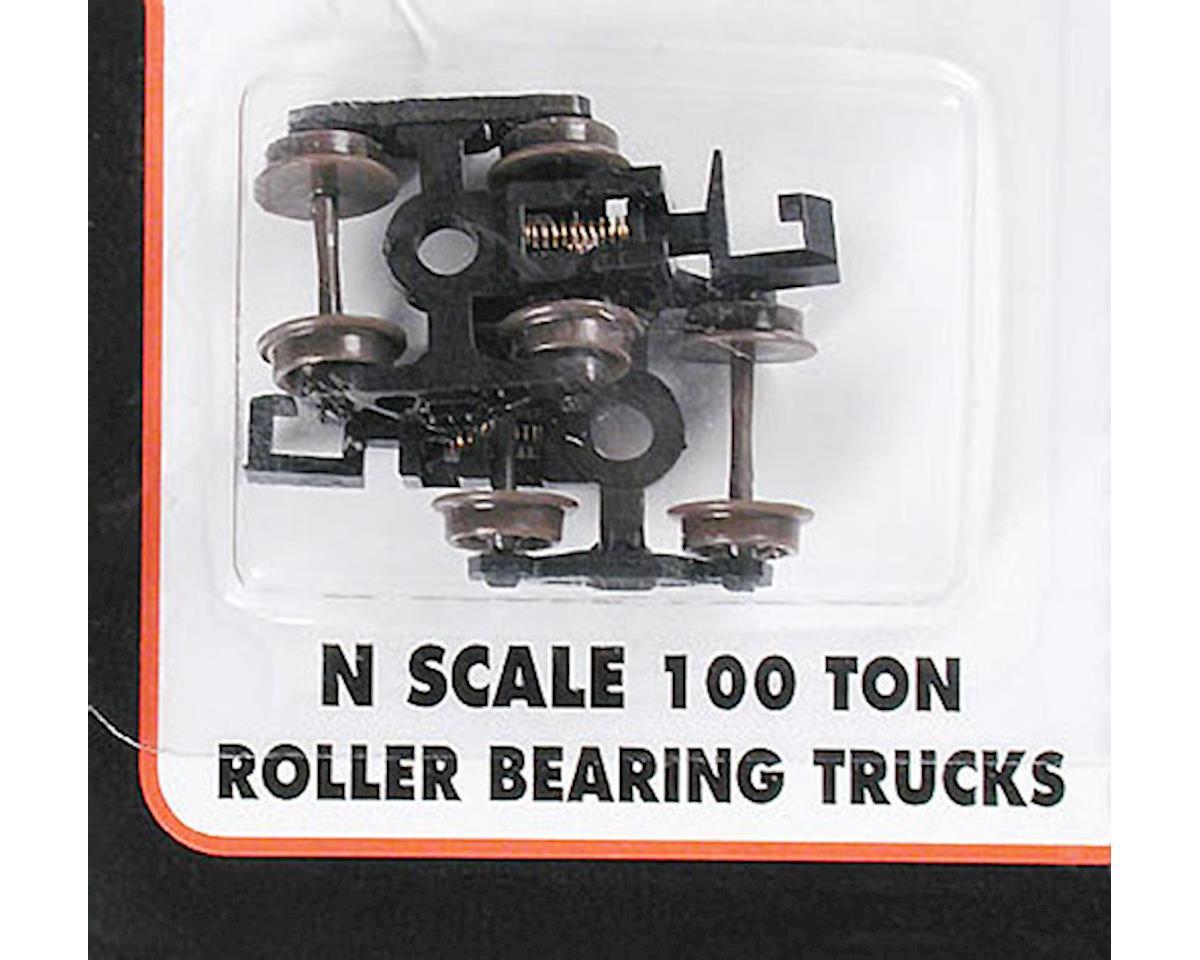 22070 100-Ton Roller Bearing Trucks w/Rapido Couplers N by Atlas Railroad