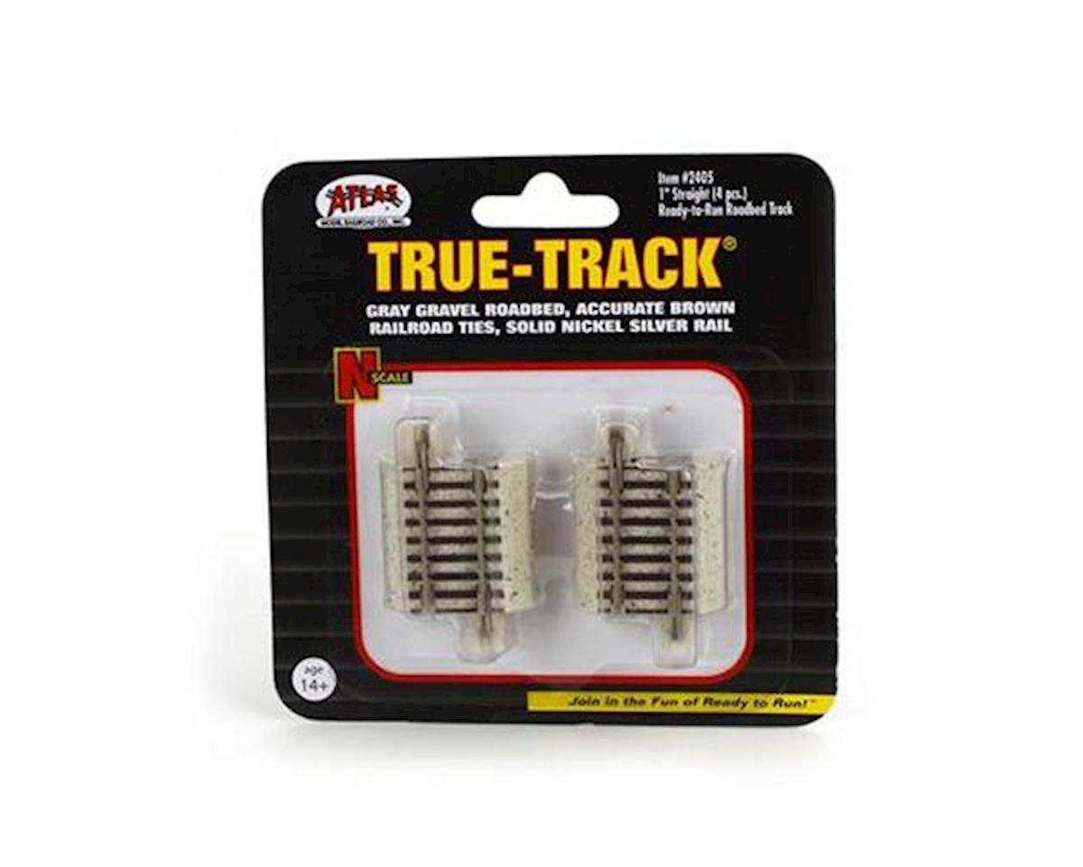 "Atlas Railroad N Code 65 True-Track 1"" Straight (4)"
