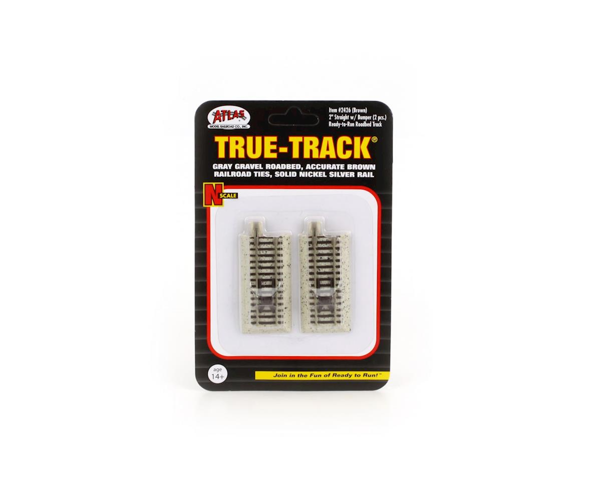 "Atlas Railroad N Code 65 True-Track 2"" Bumper, Brown (2)"