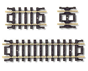 N-Gauge Code 80 Snap-Track Straight Assortment (10) by Atlas Railroad