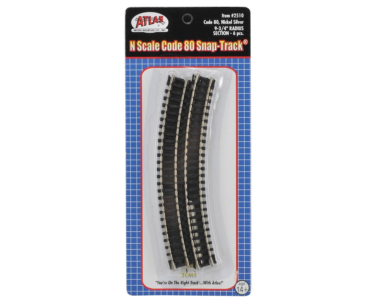 "Atlas Model Railroad N-Gauge Code 80 Snap-Track 9.75"" Radius Curve (6)"