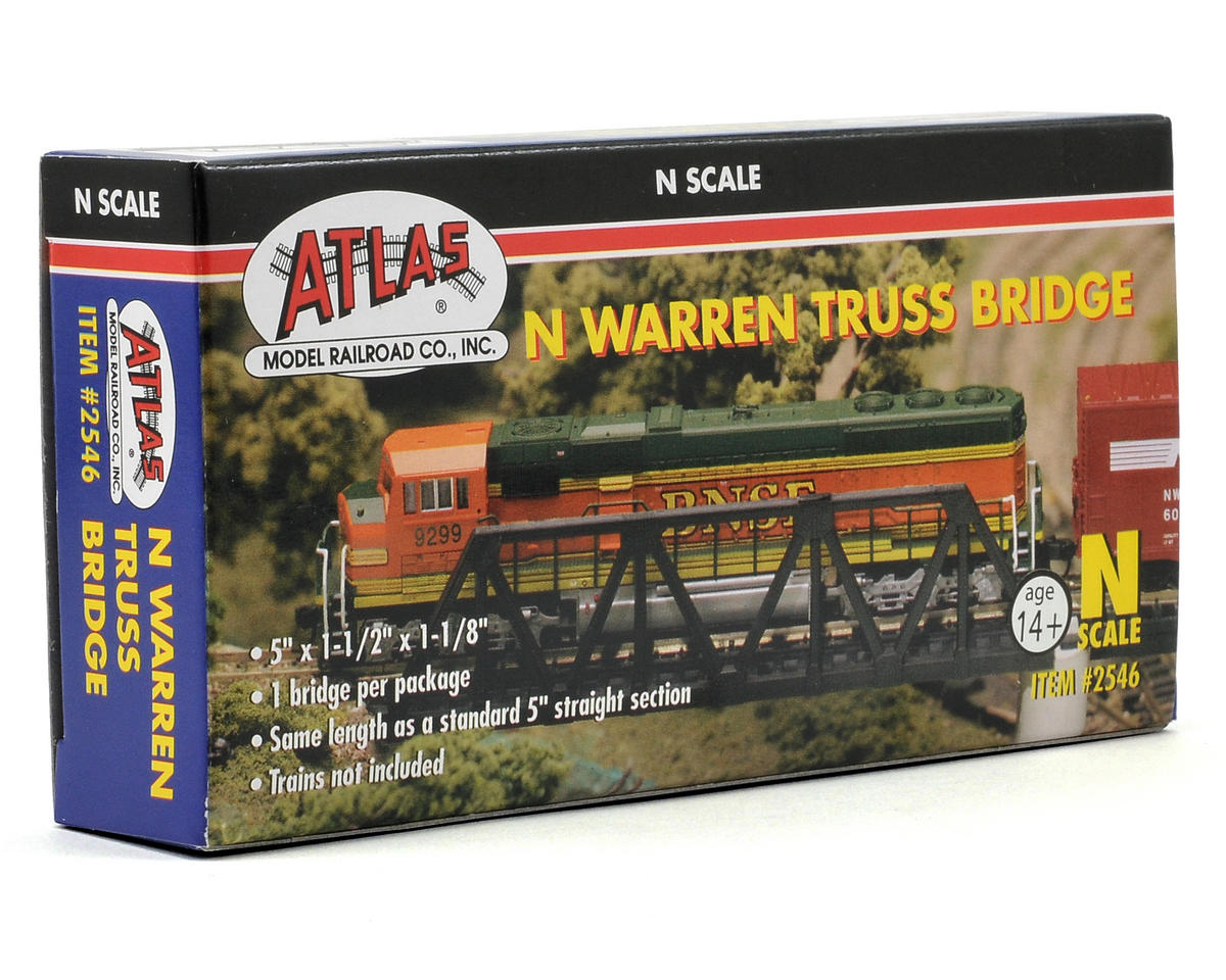 N-Gauge Code 80 Snap-Track Warren Truss Bridge by Atlas Railroad